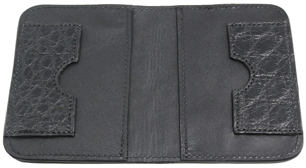 Bullhide Belts Genuine Black Alligator Passport Wallet