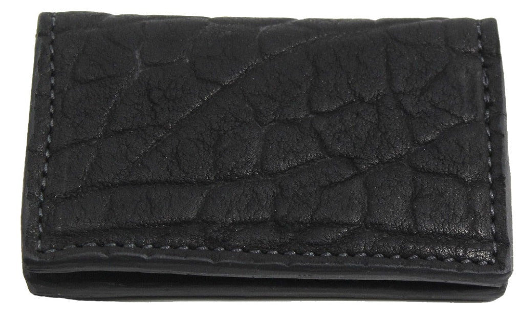 Bullhide Belts Genuine Black American Bison Credit Card Wallet