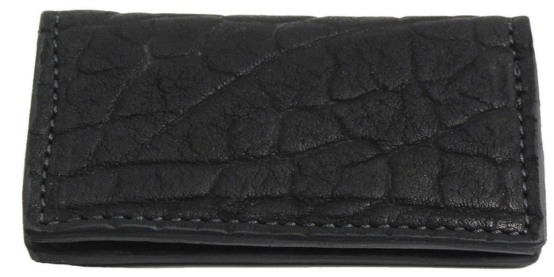 Bullhide Belts Genuine Black American Bison Checkbook Cover