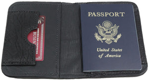 Bullhide Belts Genuine Black American Bison Passport Wallet