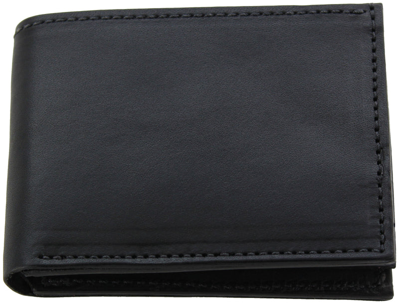 Bullhide Belts Black Premium Bridle Leather USA Made Bifold Wallet