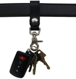 Bullhide Belts Black Leather Key Hanger With Scissor Snap (SKU 234-18)