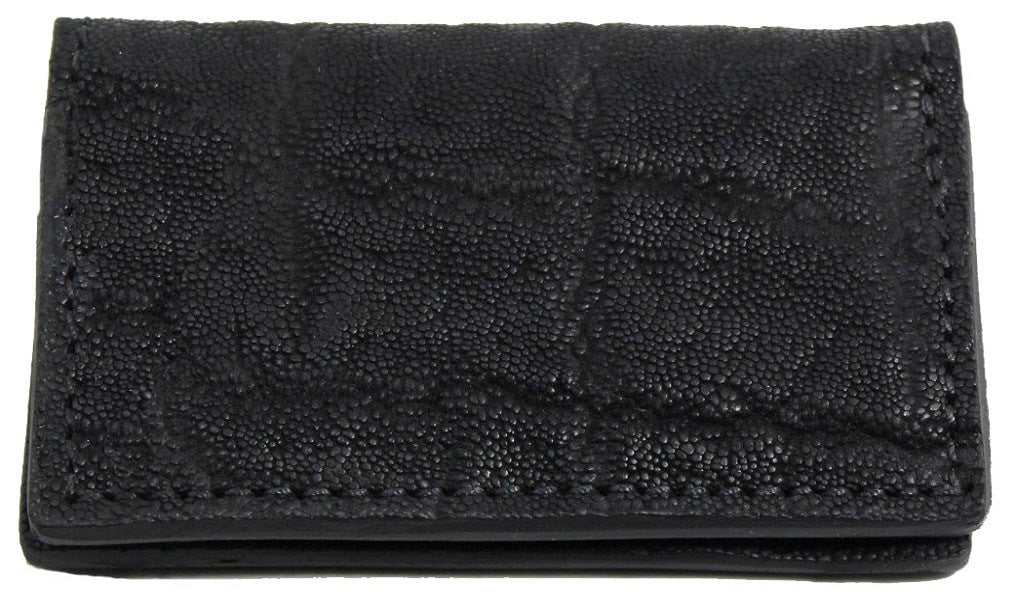 Bullhide Belts Genuine Black Elephant Credit Card & Business Card Wallet