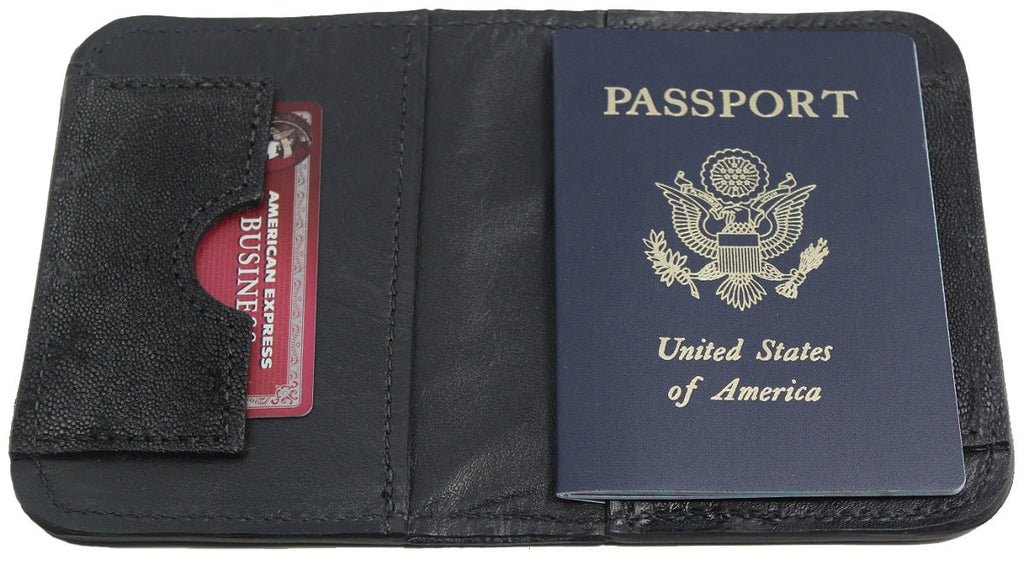 Bullhide Belts Genuine Black Elephant Passport Wallet
