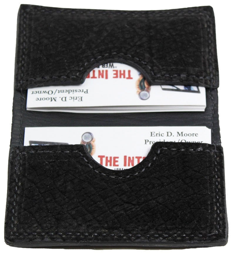 Bullhide Belts Genuine Black Hippopotamus Credit Card Wallet