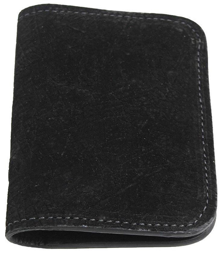 Bullhide Belts Genuine Black Hippopotamus Passport Wallet