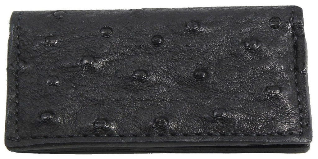 Bullhide Belts Genuine Black Ostrich Checkbook Cover