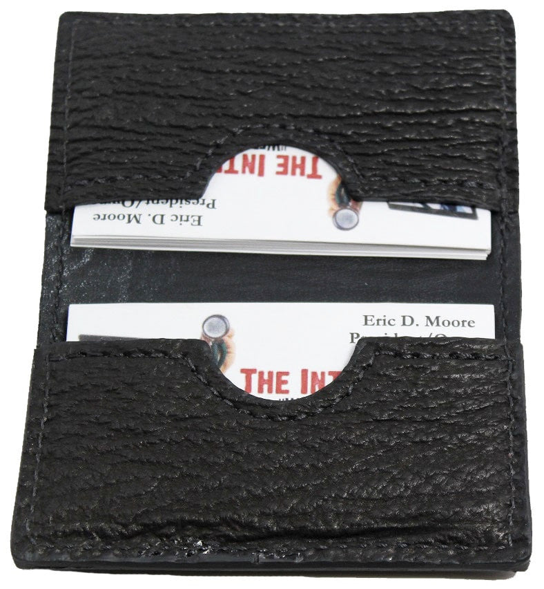 Bullhide Belts Genuine Black Shark Credit Card Wallet