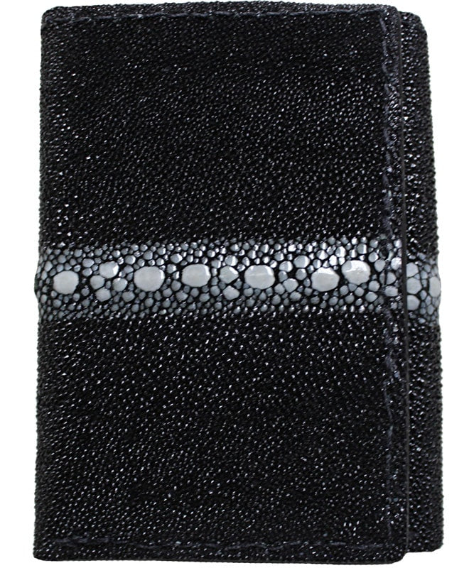 Bullhide Belts Black Spotted Eagle Stingray Trifold Wallet