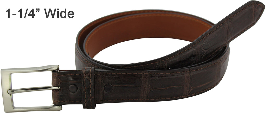 Bullhide Belts Brown American Alligator Dress or Casual Designer Belt