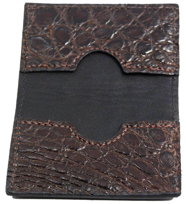Bullhide Belts Brown Alligator Credit Card & Business Card Wallet