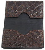 Bullhide Belts Genuine Brown Alligator Credit Card & Business Card Wallet