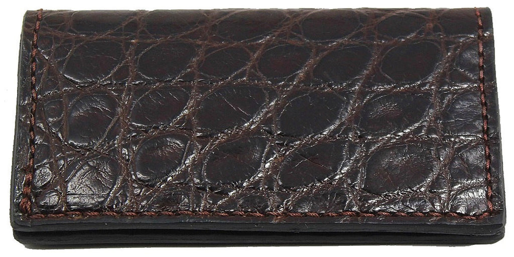 Bullhide Belts Genuine Brown Alligator Checkbook Cover