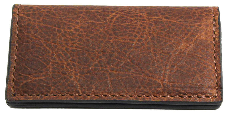 Bullhide Belts Genuine Brown American Bison Checkbook Cover