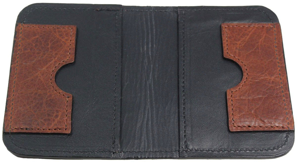 Bullhide Belts Genuine Brown American Bison Passport Wallet