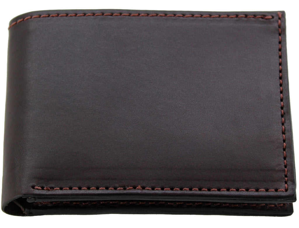 Bullhide Belts Brown Premium Bridle Leather USA Made Bifold Wallet