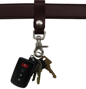 Bullhide Belts Brown Leather Key Hanger With Scissor Snap (SKU 234-36)