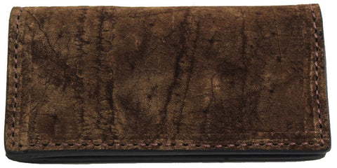 Genuine Brown American Bison Checkbook Cover