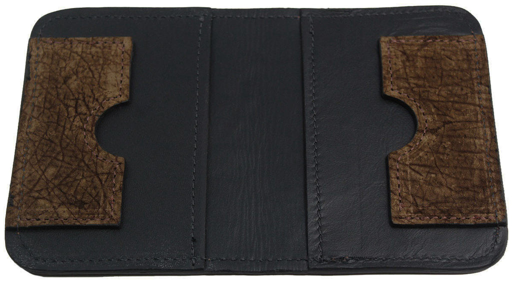 Bullhide Belts Genuine Brown Hippopotamus Passport Wallet