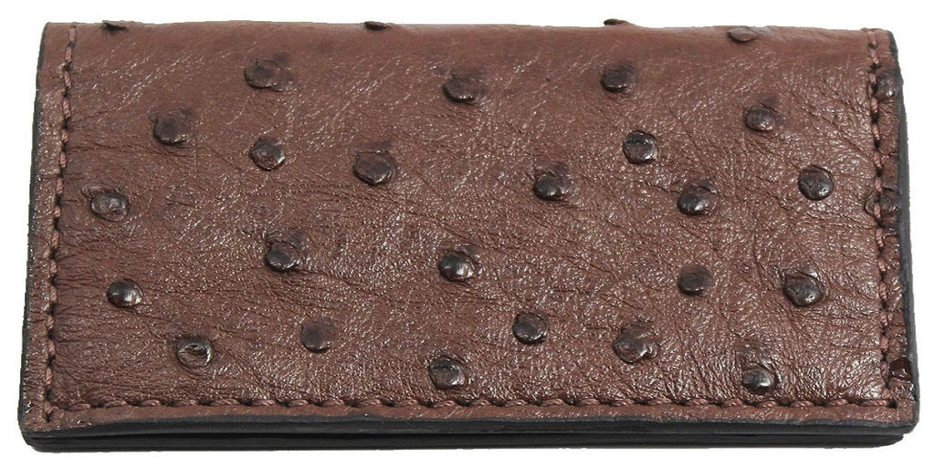 Bullhide Belts Genuine Brown Ostrich Checkbook Cover