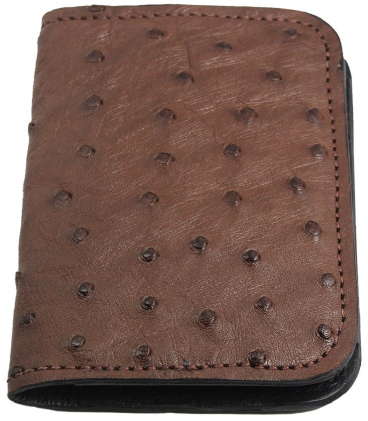 Bullhide Belts Brown Ostrich Passport Wallet