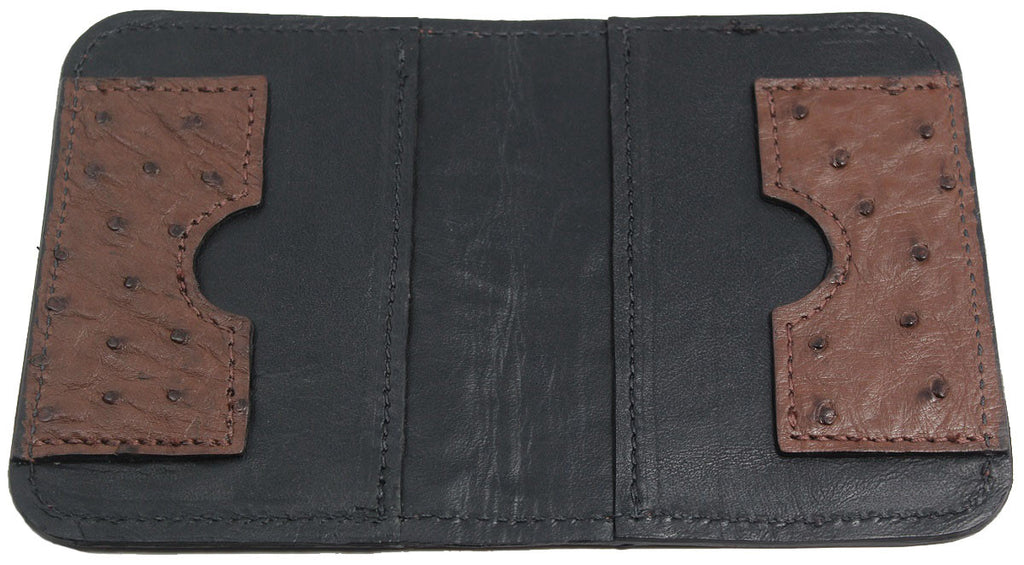 Bullhide Belts Genuine Brown Ostrich Passport Wallet