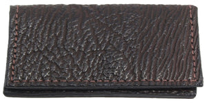 Bullhide Belts Genuine Brown Shark Checkbook Cover