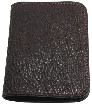 Bullhide Belts Genuine Brown Shark Passport Wallet