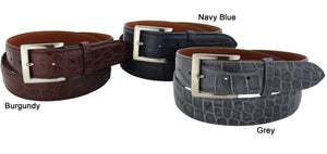 Bullhide Belts Navy Blue American Alligator Dress or Casual Designer Belt