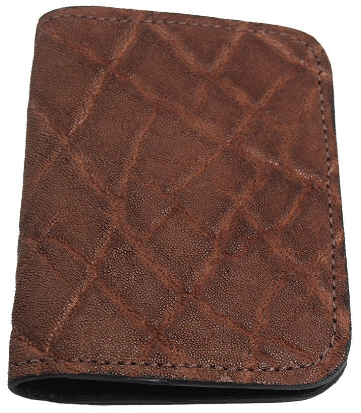 Bullhide Belts Genuine Caramel Brown Elephant Passport Wallet