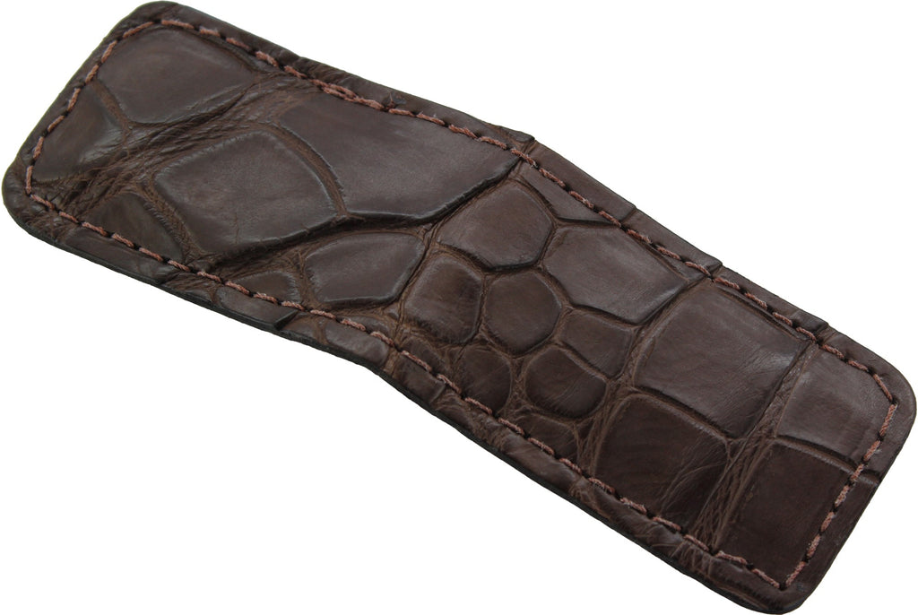 Brown Alligator Cash Clip