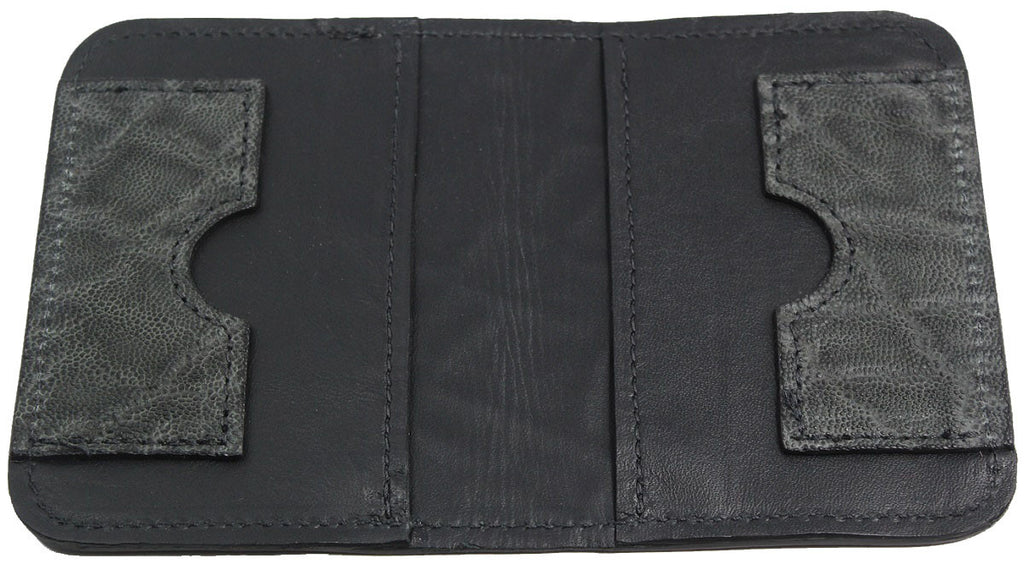 Bullhide Belts Genuine Charcoal Grey Elephant Passport Wallet