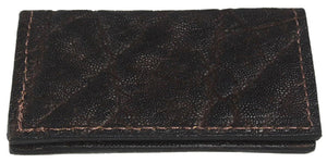 Bullhide Belts Genuine Dark Brown Elephant Checkbook Cover