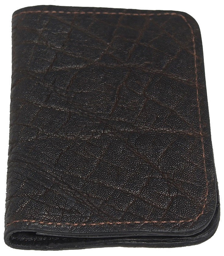 Bullhide Belts Genuine Dark Brown Elephant Passport Wallet
