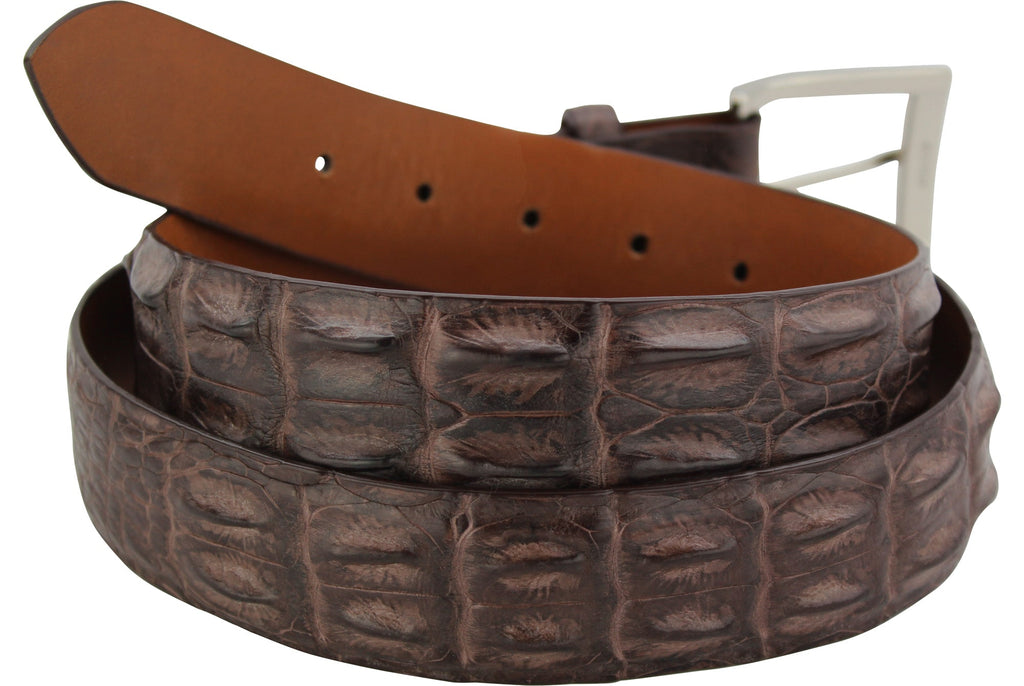 Brown Australian Saltwater Hornback Crocodile Dress or Casual Designer Belt