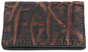 Bullhide Belts Genuine Dragon Fire Elephant Credit Card & Business Card Wallet