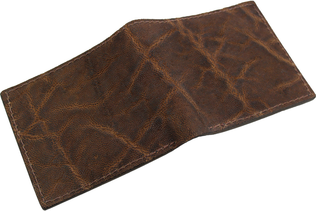 Rustic Brown Elephant Bifold Wallet