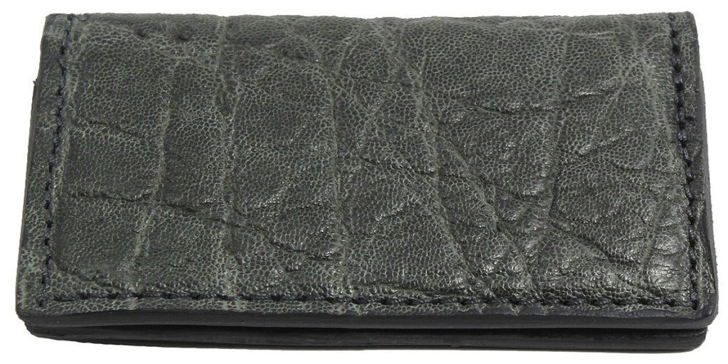 Bullhide Belts Genuine Charcoal Grey Elephant Checkbook Cover