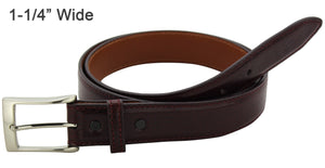Bullhide Belts Burgundy Italian Calf Leather Dress or Casual Designer Belt (Made To Order)
