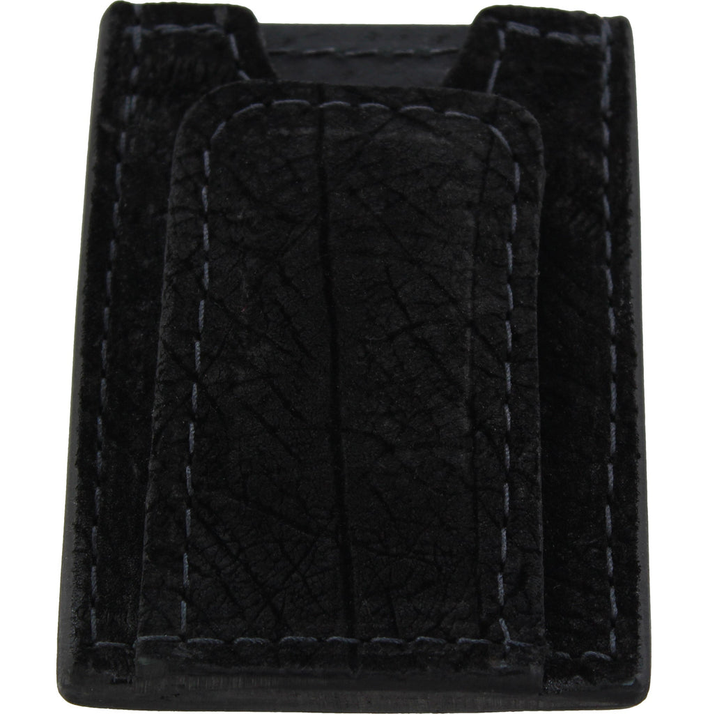Black Hippopotamus Money Clip Wallet With Credit Card Slots