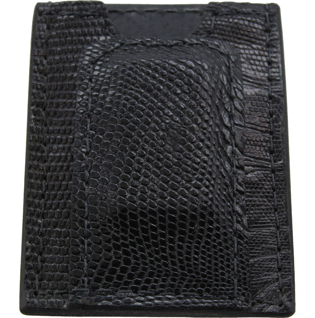 Black Lizard Money Clip Wallet With Credit Card Slots