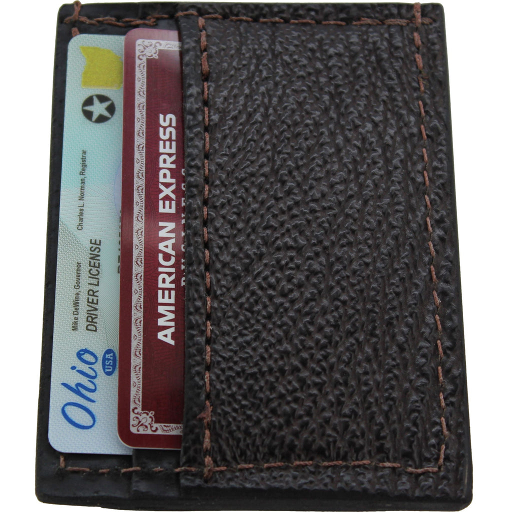 Brown Shark Money Clip Wallet With Credit Card Slots