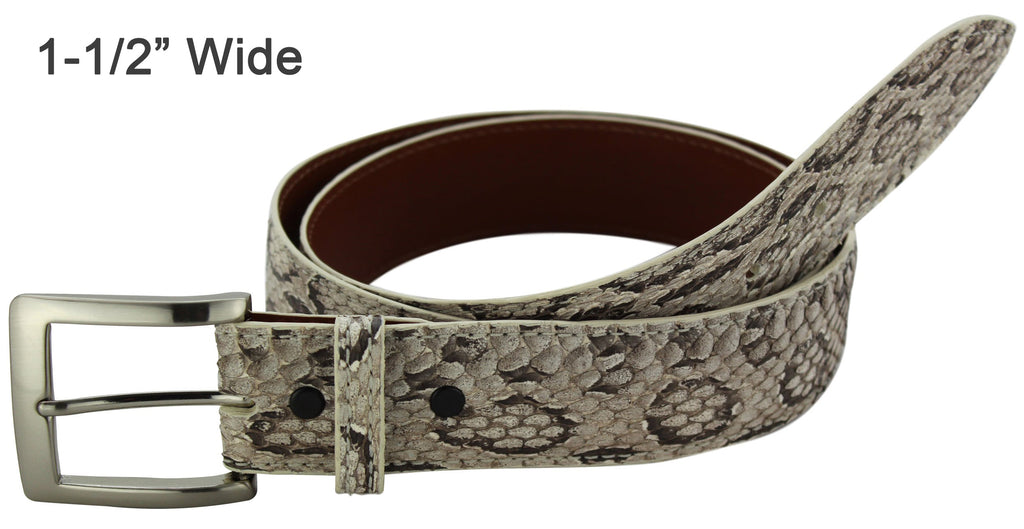 Bullhide Belts Viper Snake Skin Dress or Casual Designer Belt
