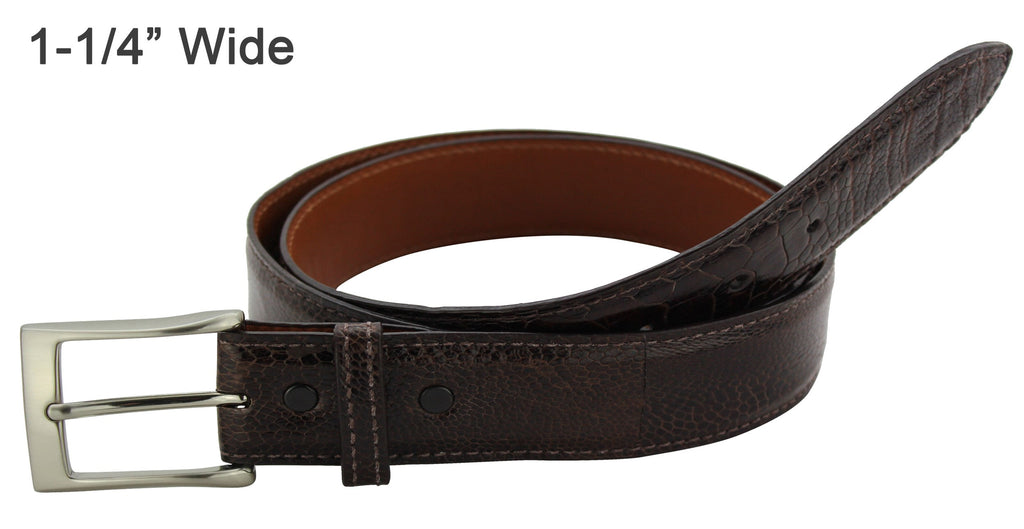 Bullhide Belts Brown Ostrich Leg Dress or Casual Designer Belt
