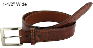 Bullhide Belts Cognac Ostrich Leg Dress or Casual Designer Belt