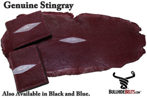 Bullhide Belts Red Stingray Bifold Wallet