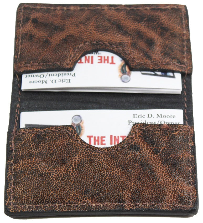 Bullhide Belts Rustic Brown Elephant Credit Card & Business Card Wallet