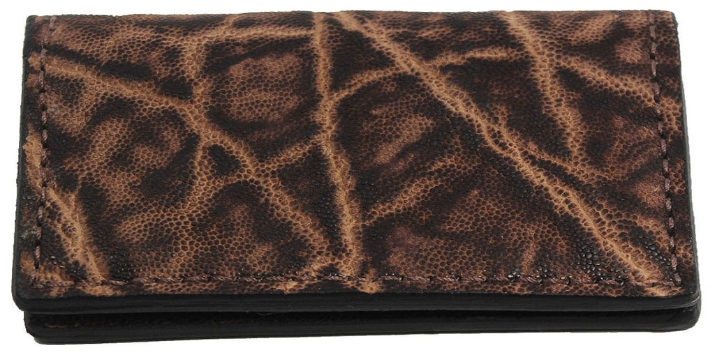 Bullhide Belts Genuine Rustic Brown Elephant Checkbook Cover