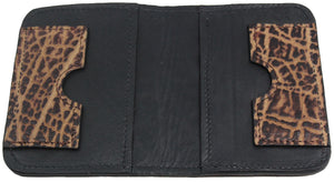 Bullhide Belts Genuine Rustic Brown Elephant Passport Wallet