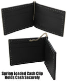 Bullhide Belts Brown Alligator Bifold Slim Profile Wallet With Money Clip